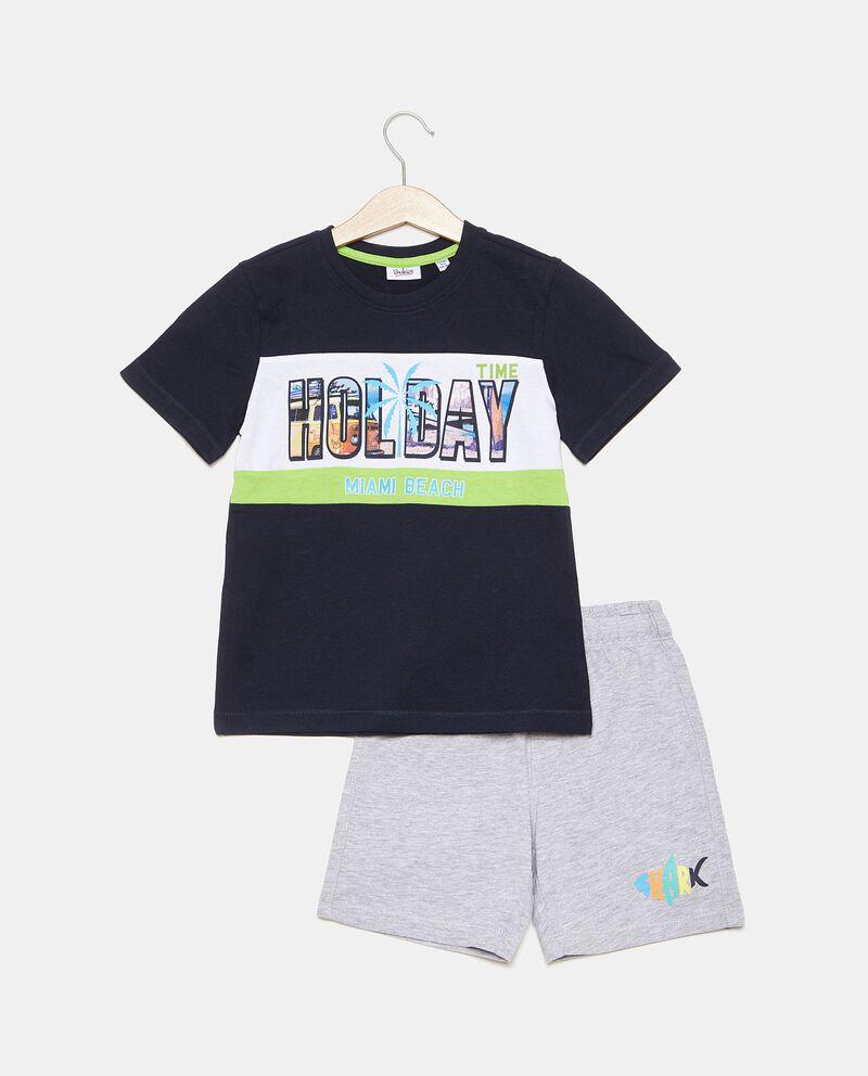 Set in cotone con t-shirt e bermuda bambino
