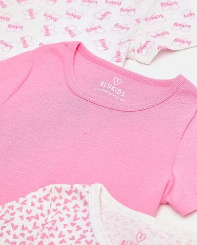Set con 3 t-shirt intime di puro cotone biologico bambina detail 1