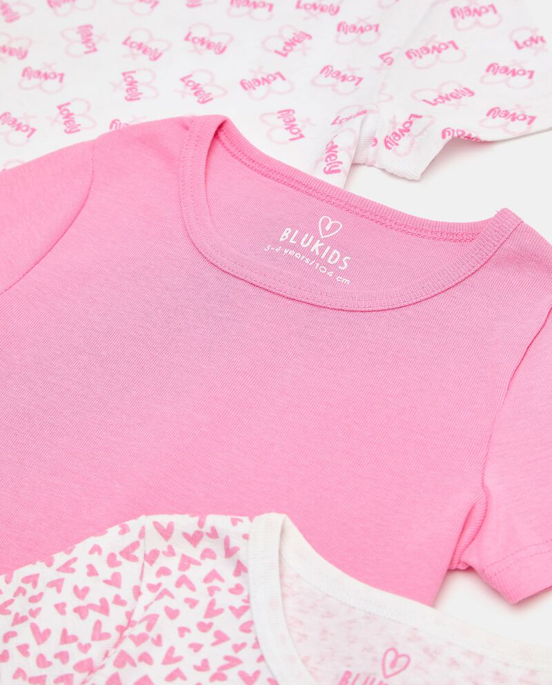 Set con 3 t-shirt intime di puro cotone biologico bambina single tile 1