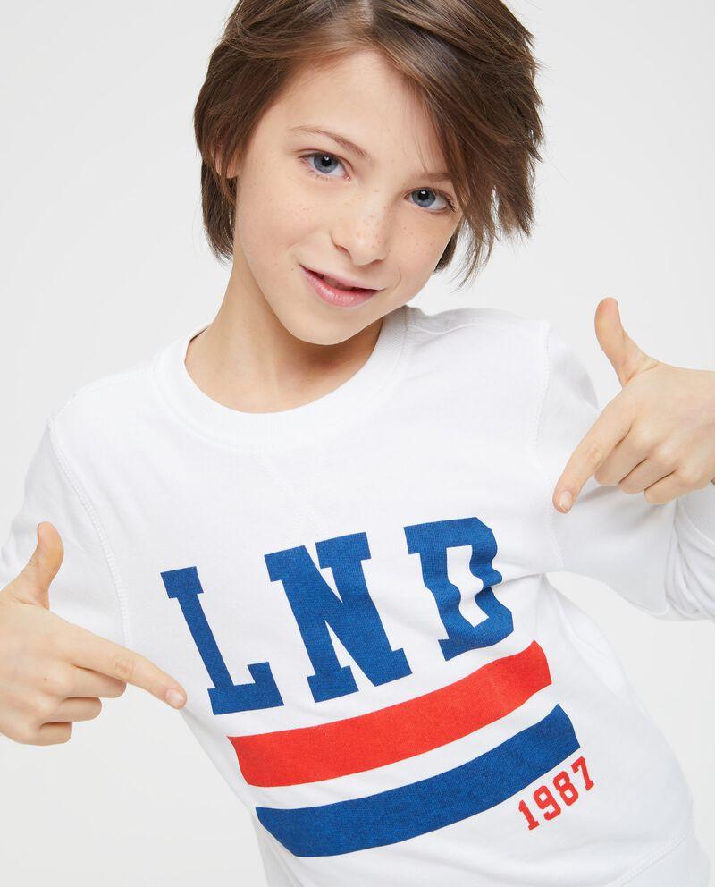 T-shirt maniche lunghe stampata