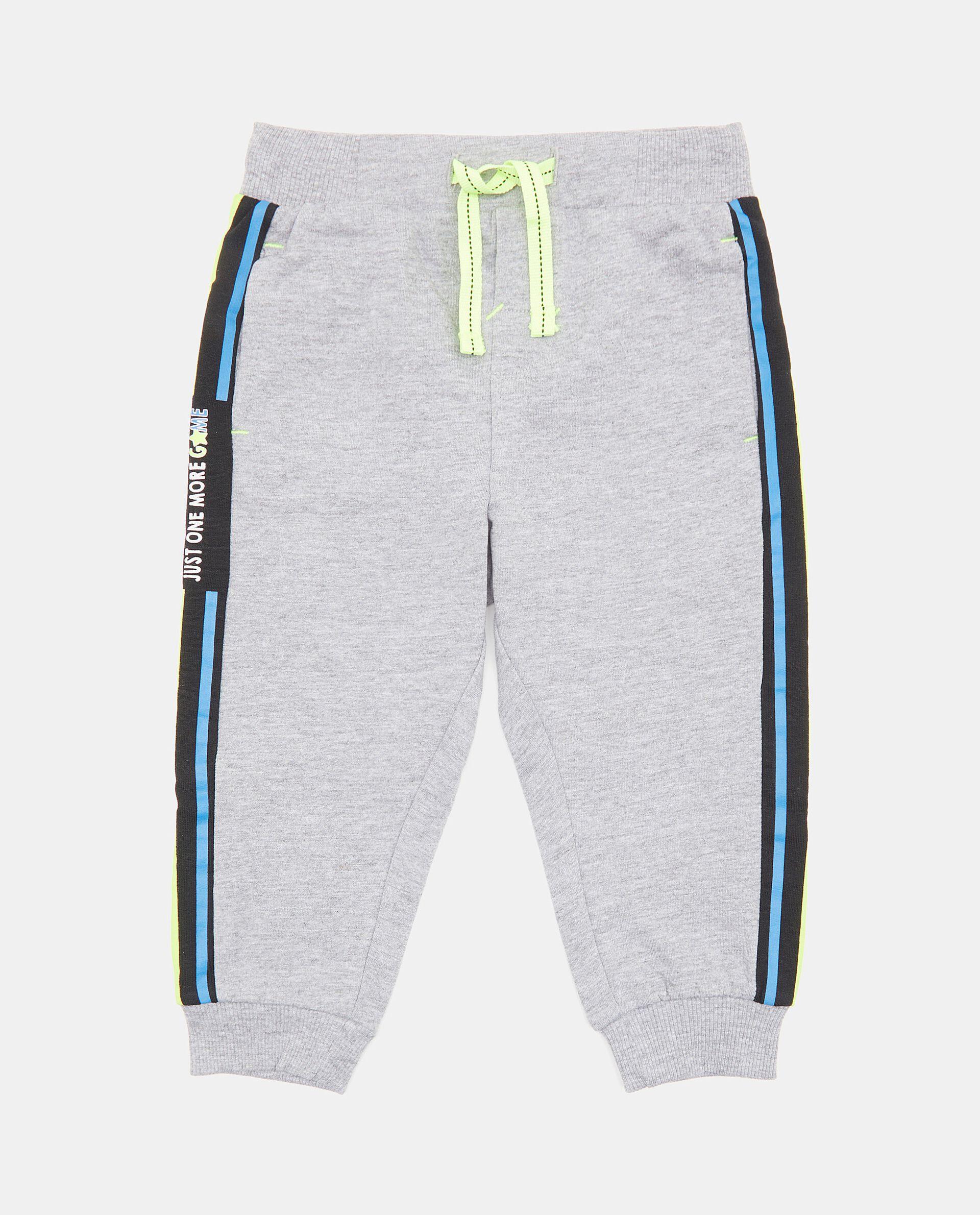Pantaloni con bande laterali a contrasto neonato
