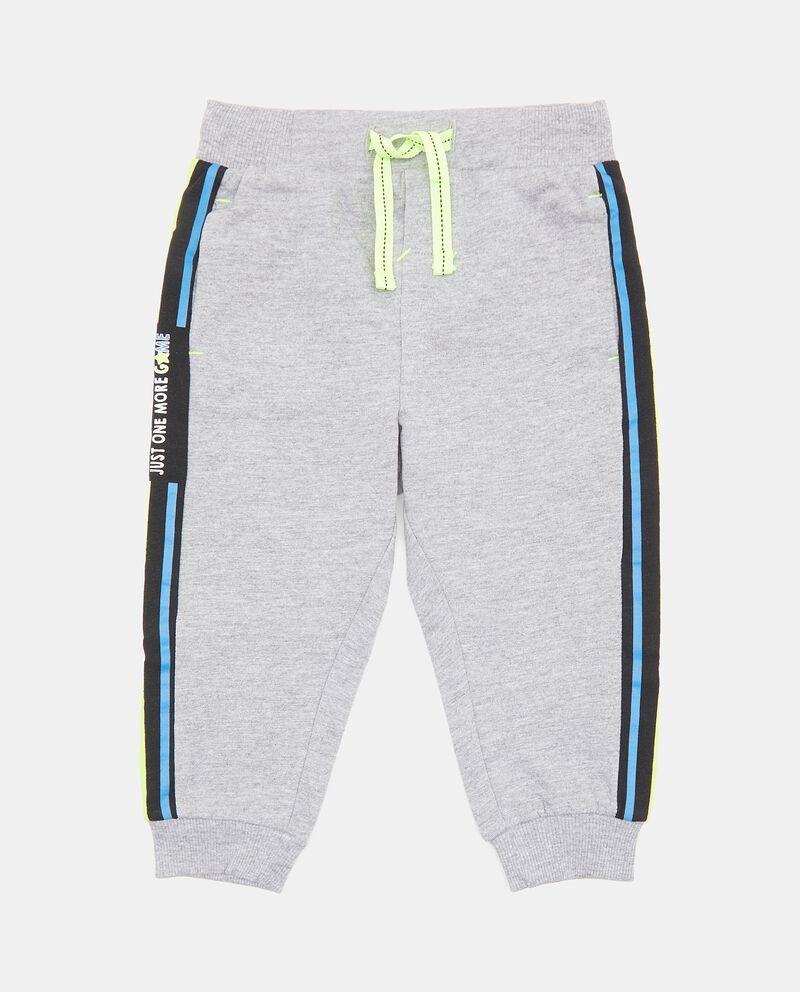 Pantaloni con bande laterali a contrasto neonato cover