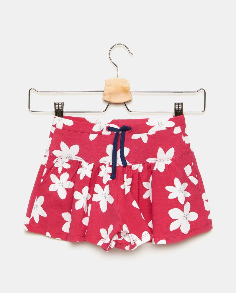 Gonna pantalone corta in fantasia fiorellini bambina