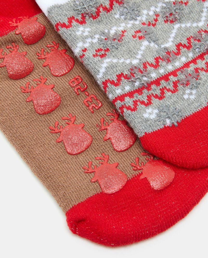 Bipack calzini antiscivolo di cotone biologico bambino
