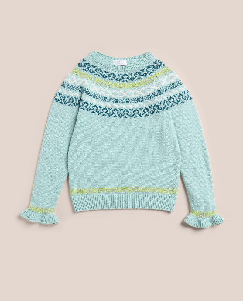 Maglioncino jacquard in lana merino e cashmere IANA cover