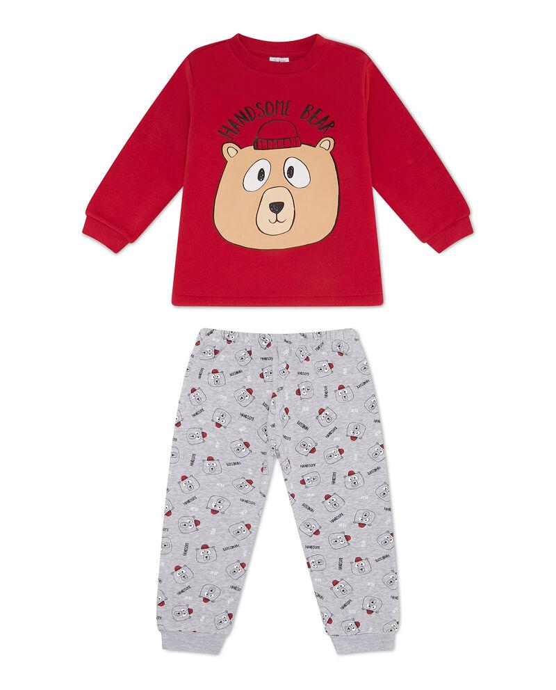 Pigiama maglia e pantaloni fantasia orsi