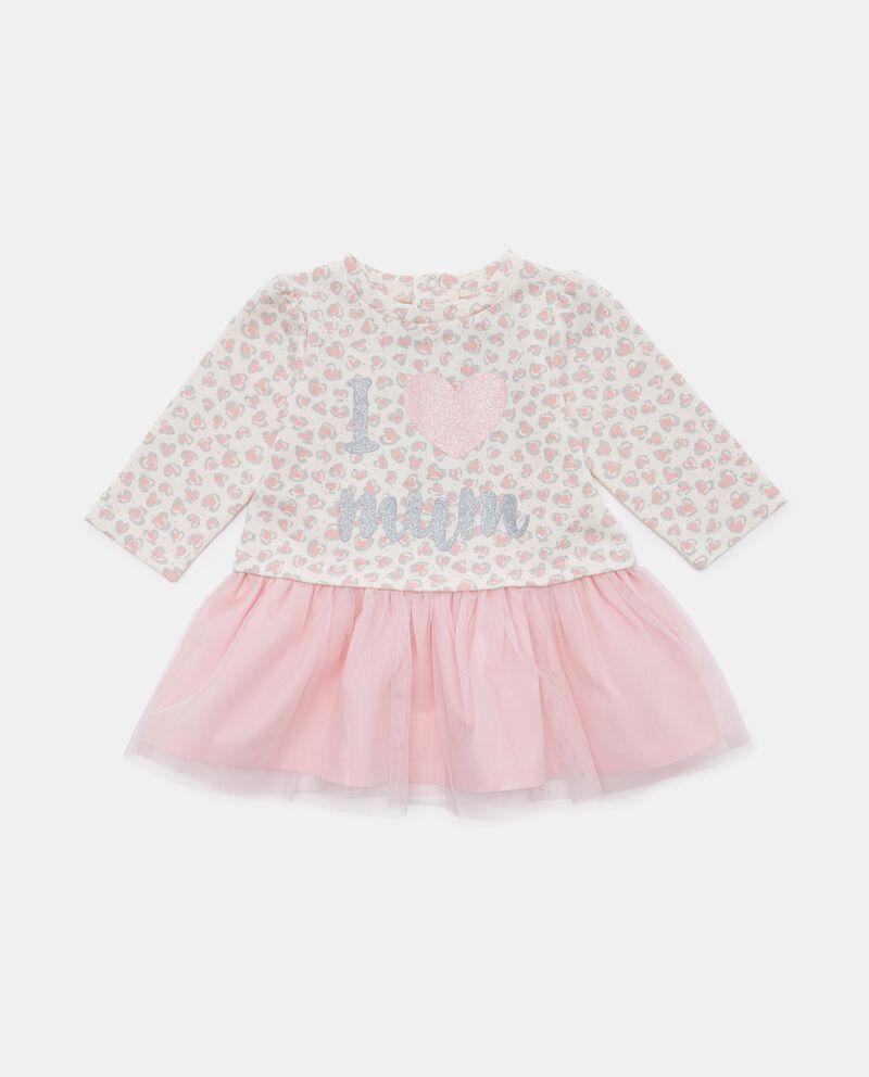 Vestitino con gonna in velo neonata