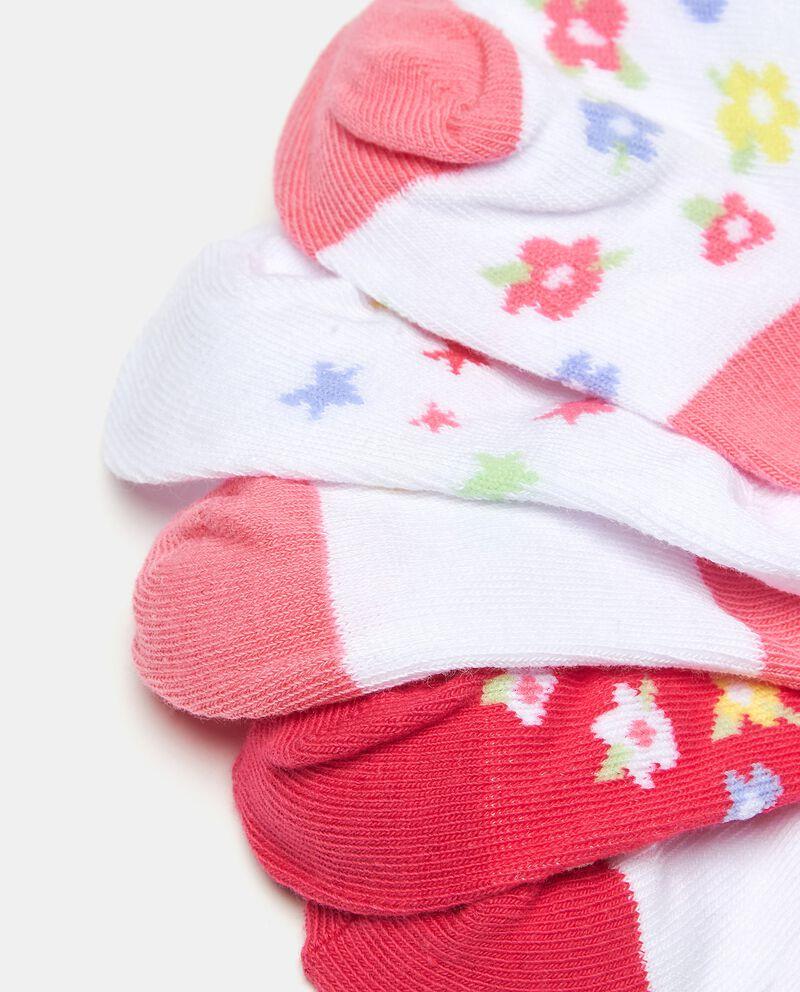 Set tre paia di calzini antiscivolo in cotone elasticizzato neonata