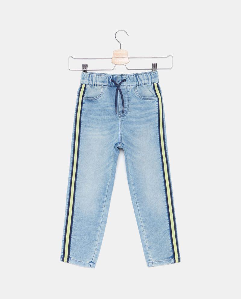 Jeans con bande laterali bambino
