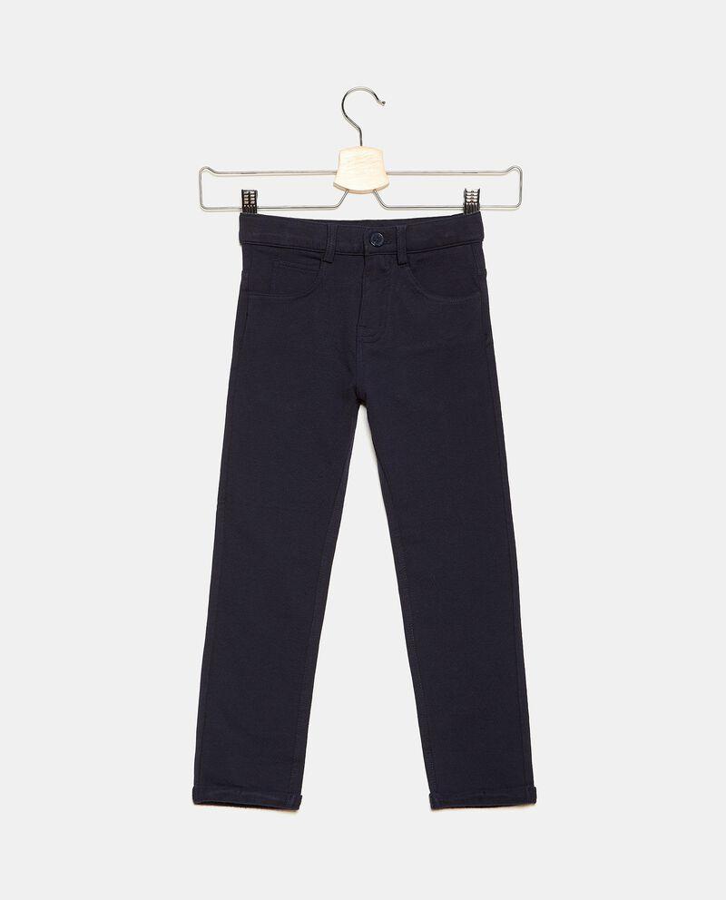 Jeans in cotone stretch con cinque tasche ragazzodouble bordered 0