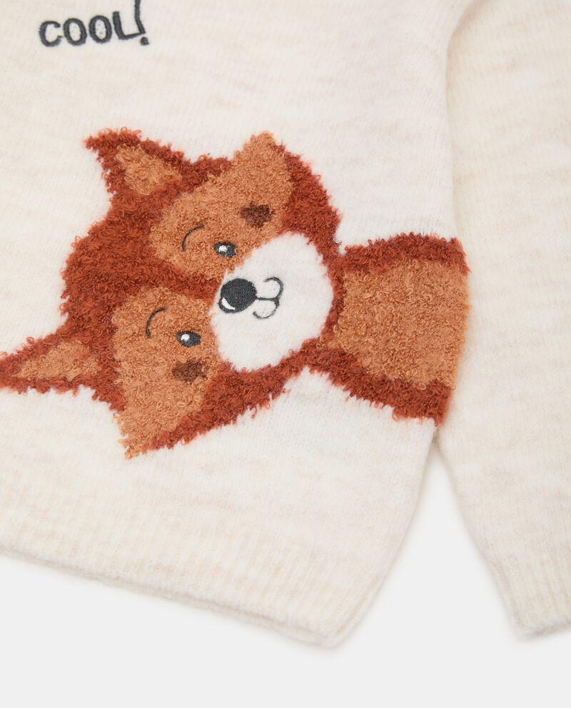 Girocollo tricot con ricamo neonatodouble bordered 1