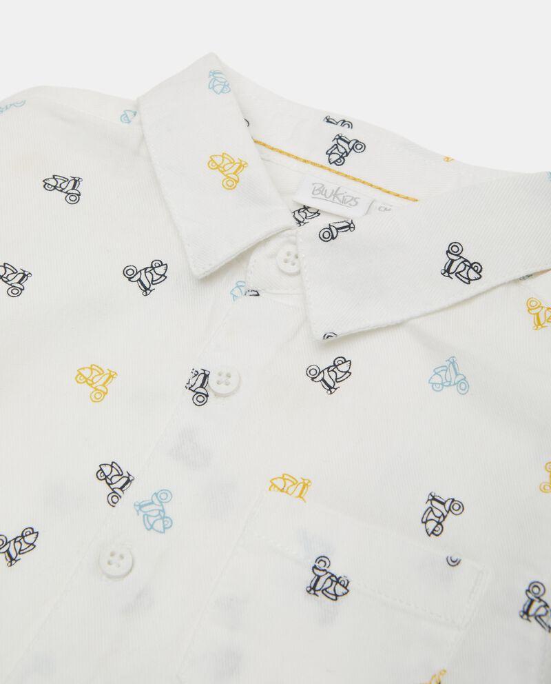 Camicia in puro cotone biologico neonato single tile 1