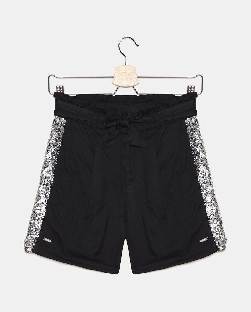 Shorts in viscosa con piega ragazzadouble bordered 0
