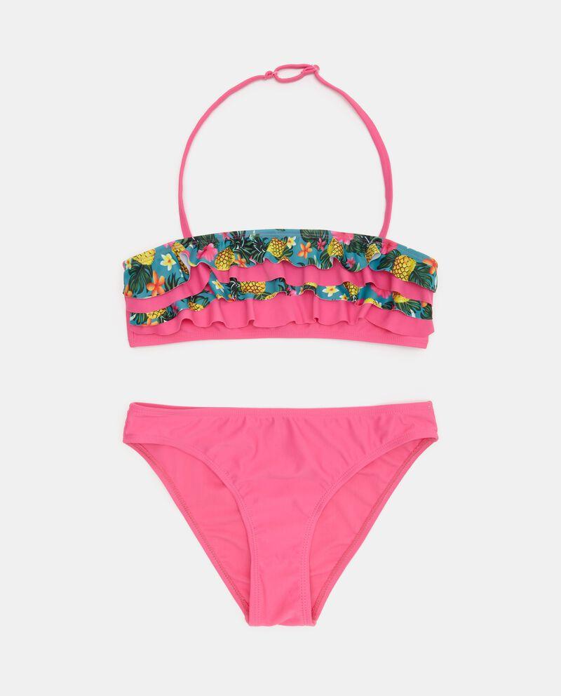 Bikini con top in fantasia ragazza