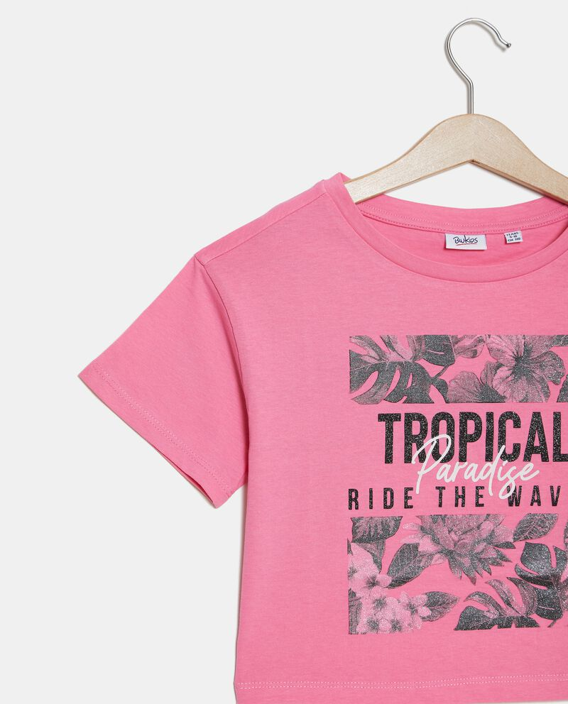 T-shirt cropped in jersey stretch ragazza single tile 1