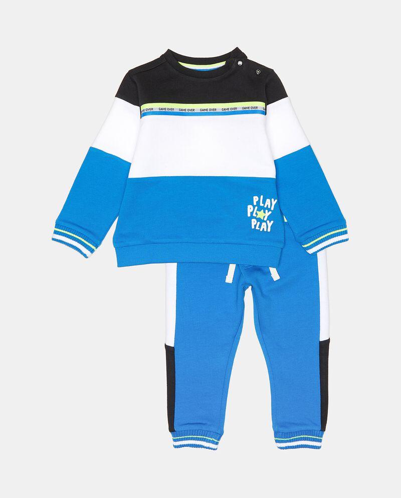 Set jogging in puro cotone neonato