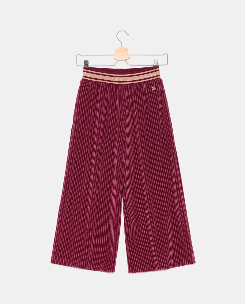 Pantaloni in ciniglia plissettati ragazza cover