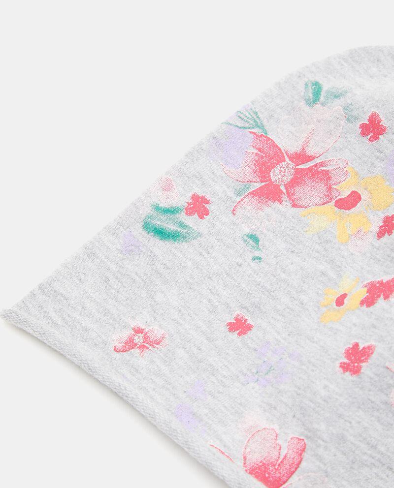 Cappellino con fantasia floreale neonata
