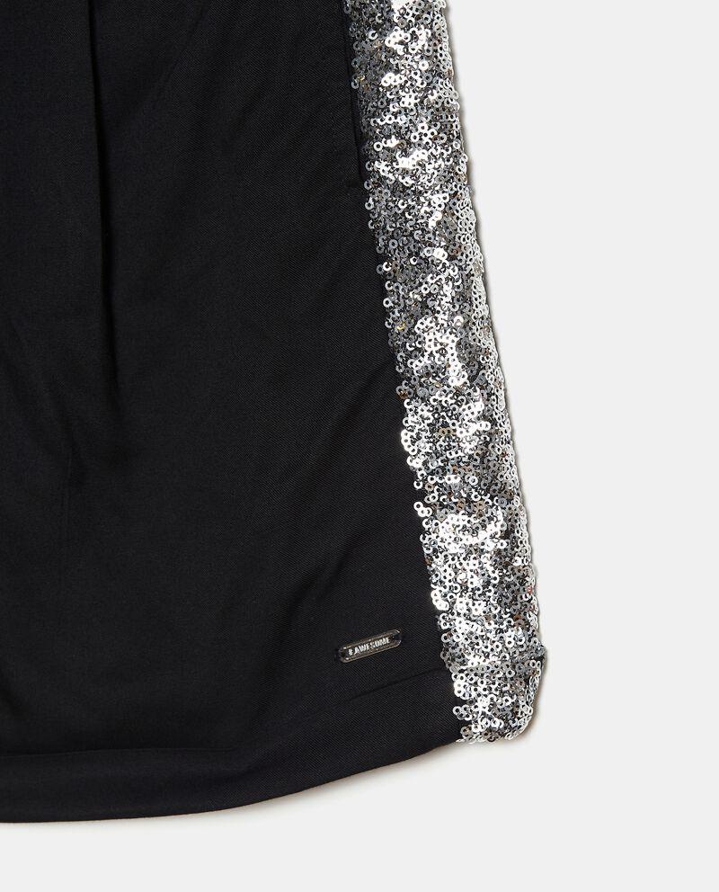 Shorts in viscosa con piega ragazzadouble bordered 1