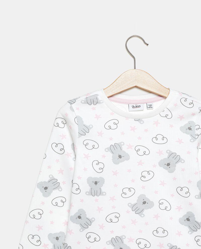 Set pigiama in puro cotone maglia e pantaloni