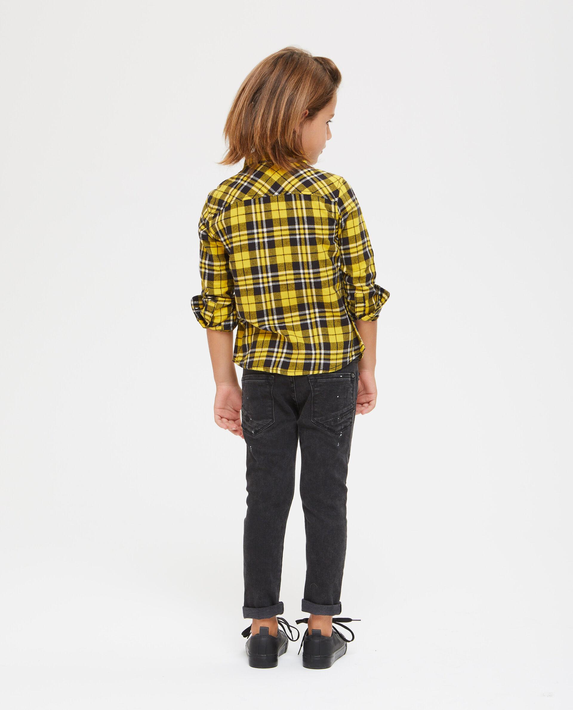 Camicia cotone a quadri con taschino