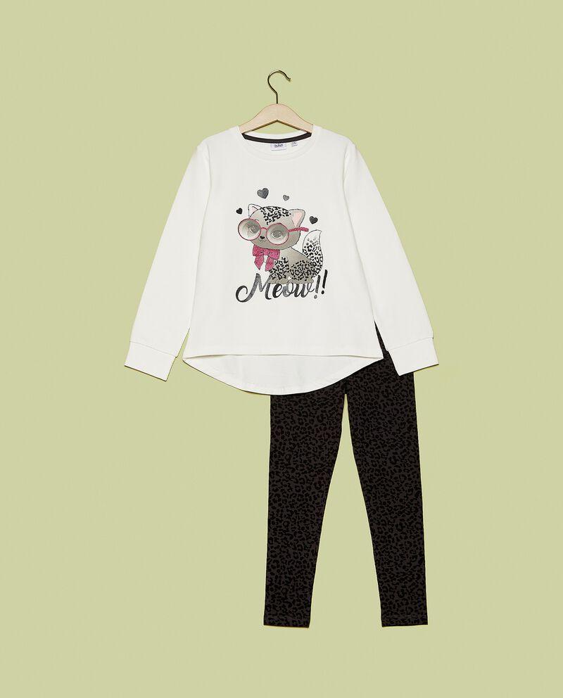Set maglia e leggings in fantasia bambina