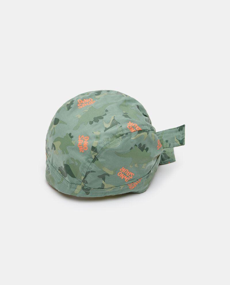 Bandana in popeline con stampa camouflage neonato