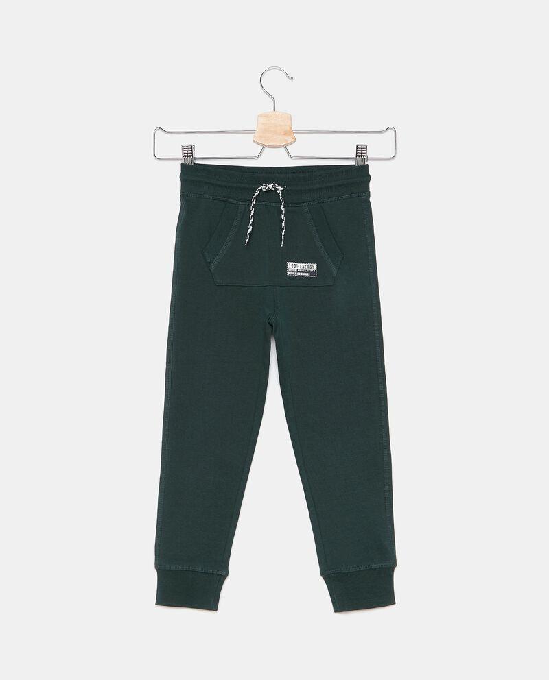 Pantaloni in tinta unita puro cotone biologico bambino cover