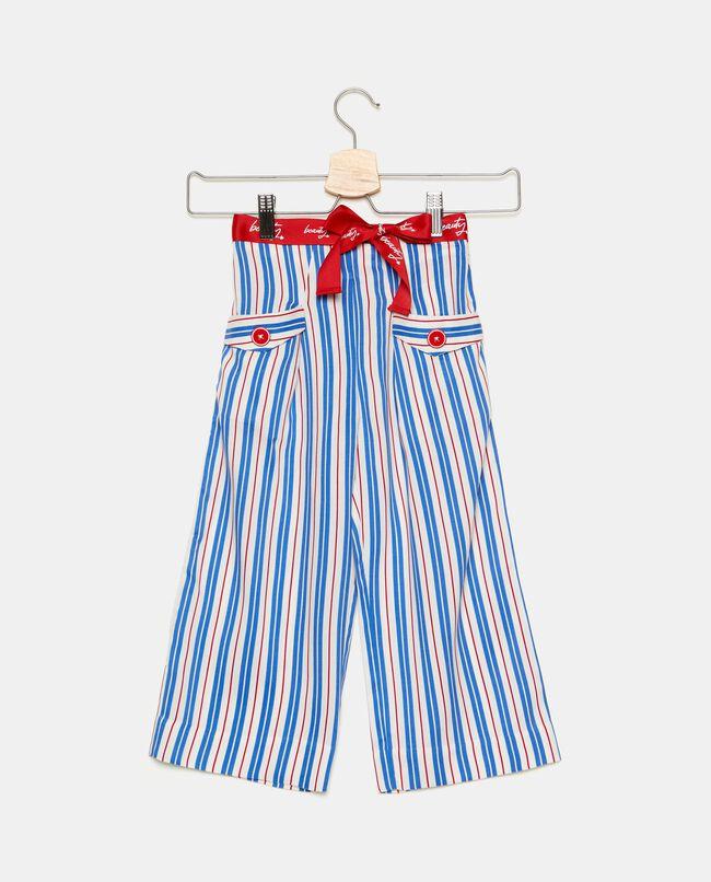 Pantaloni con motivo a righe bambina