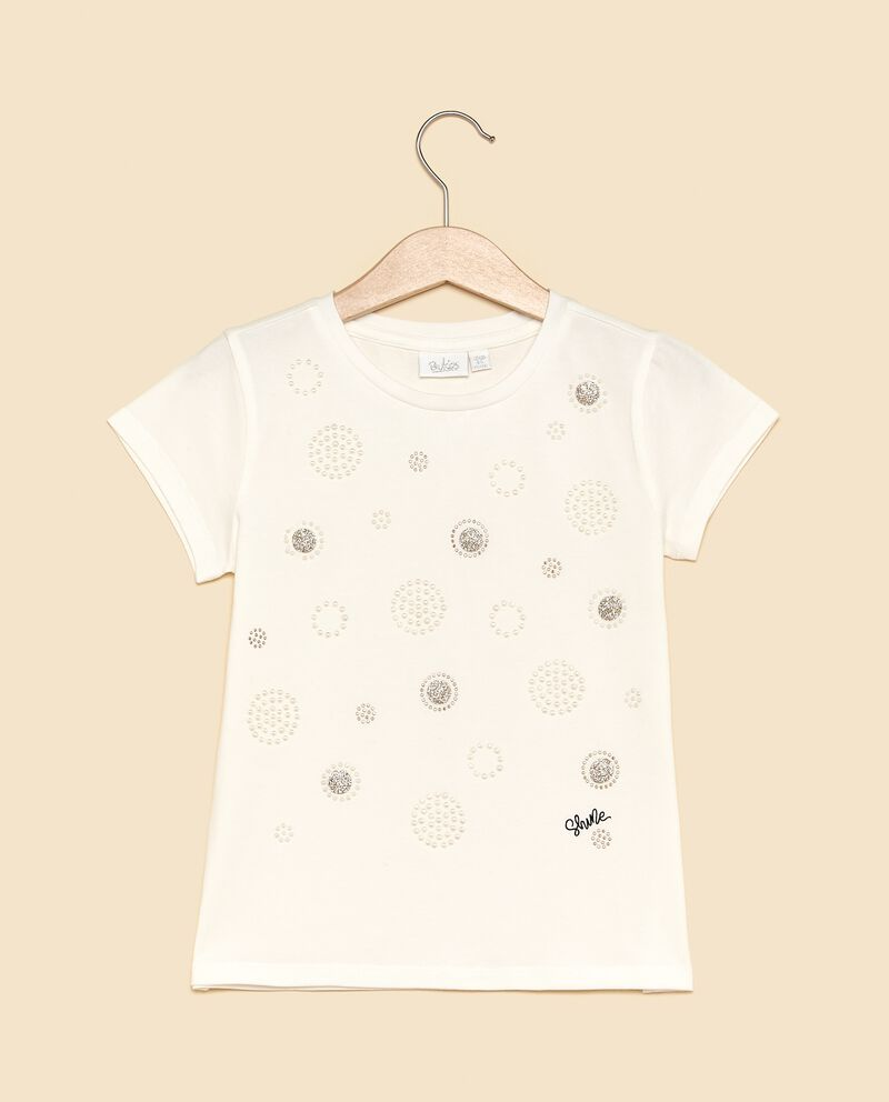T-shirt con disegni in strass bambina