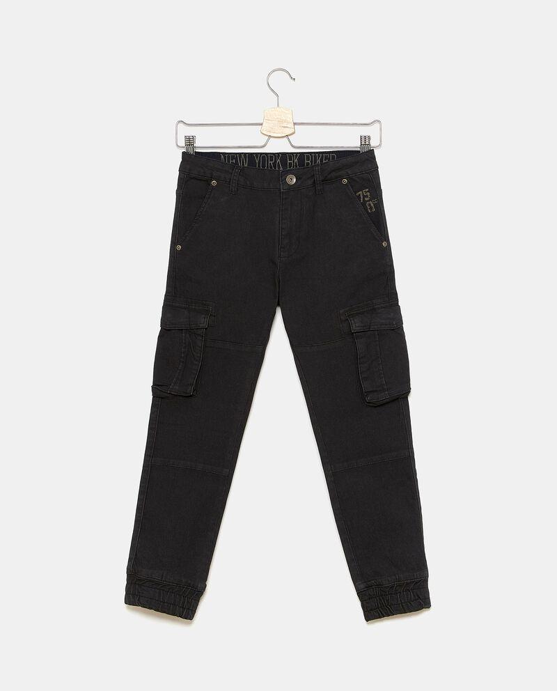 Pantaloni cargo tinta unita ragazzo