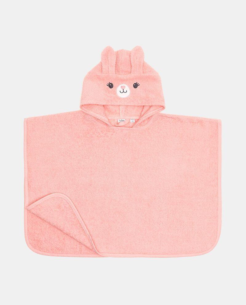 Accappatoio poncho in cotone organico neonata