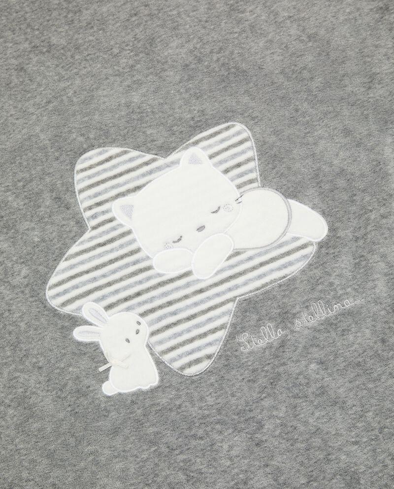 Coperta di cotone organico in ciniglia single tile 1