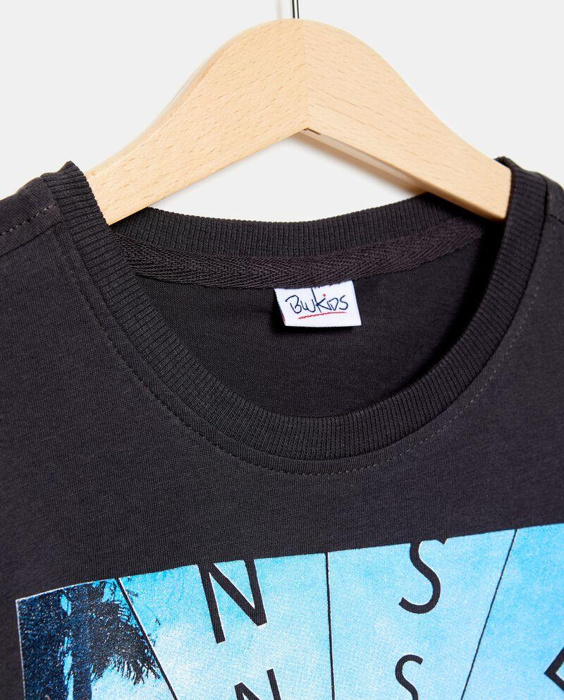 T-shirt in cotone tinta unita palme