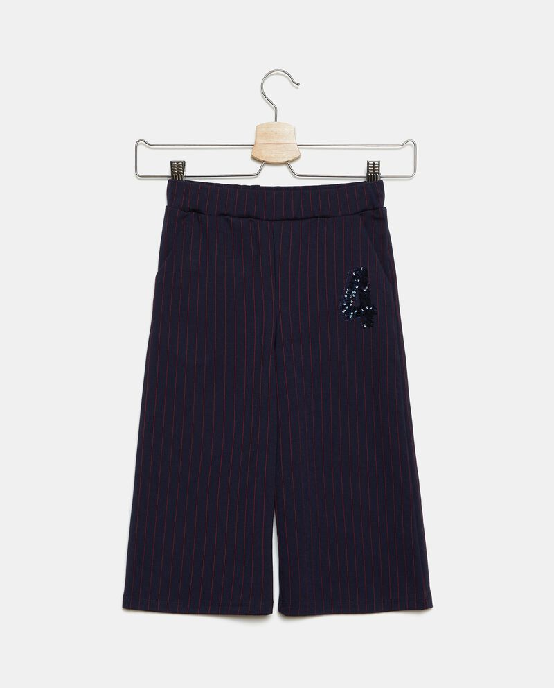 Pantaloni ampi con righe bambina