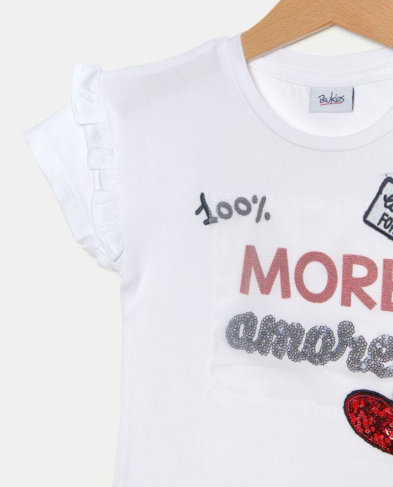T-shirt a maniche corte stampata bambina