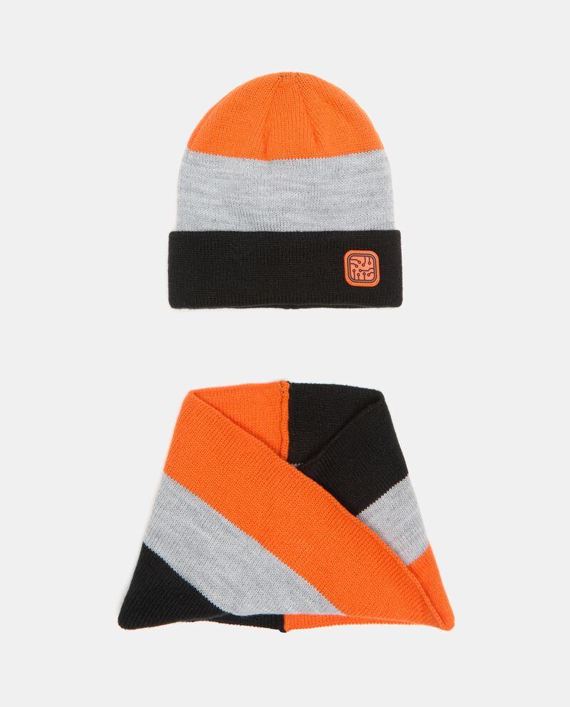 Set berretto e scaldacollo tricot ragazzo cover
