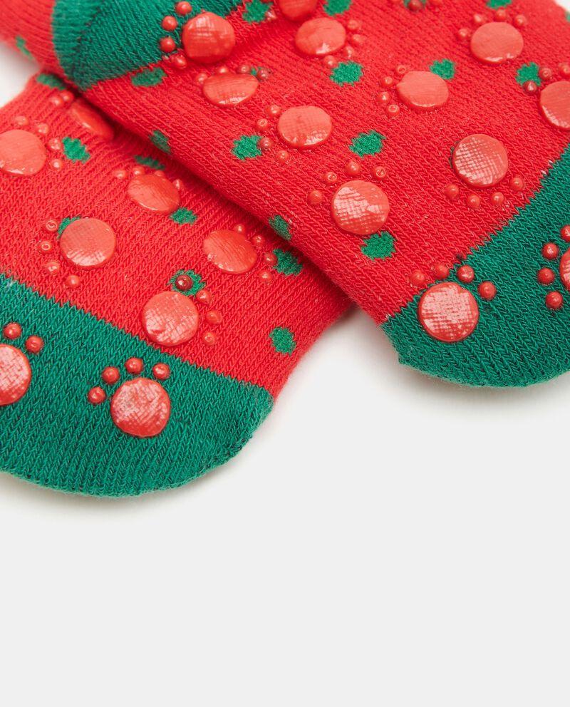 Calze natalizie in cotone organico neonata single tile 1