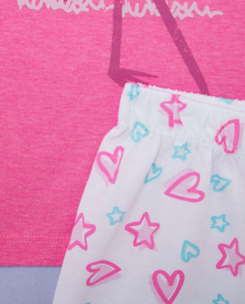 Set pigiama t-shirt e shorts con fantasia bambina