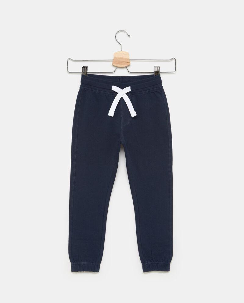 Pantaloni in puro cotone con coulisse