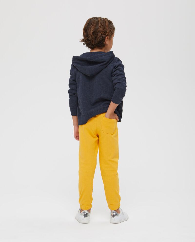 Pantaloni puro cotone stampa lettering