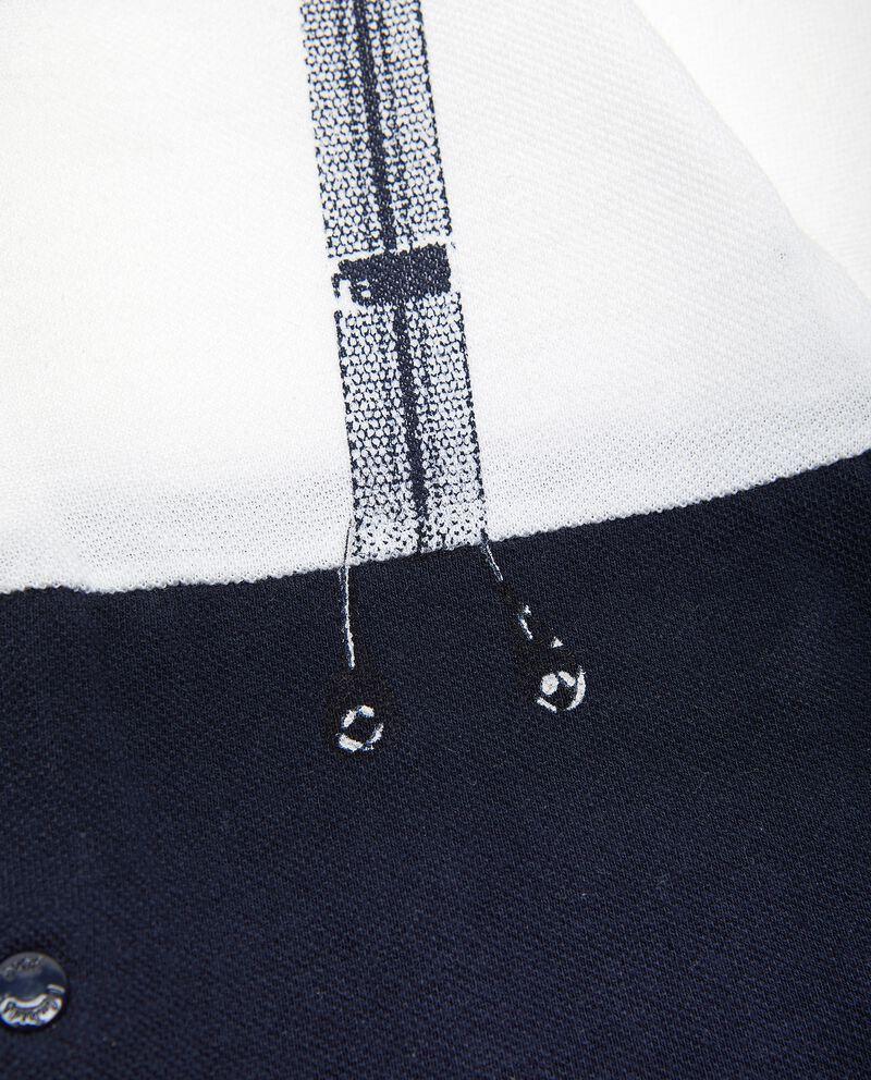 Tutina con bretelle stampate in puro cotone single tile 1