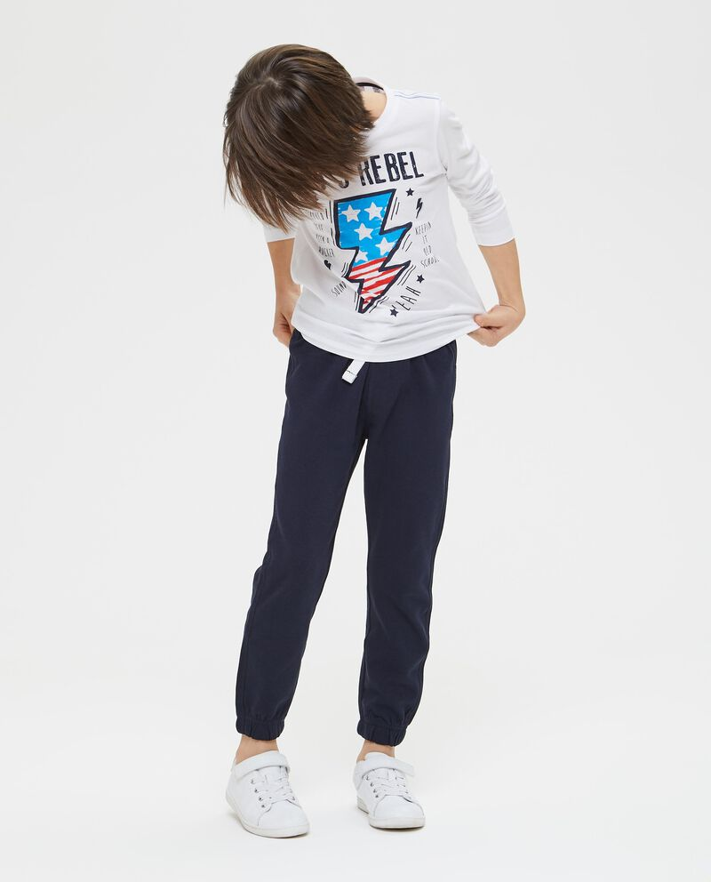 T-shirt in cotone stampa fulmine