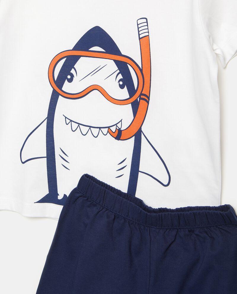 Set pigiama t-shirt e shorts puro cotone bambino