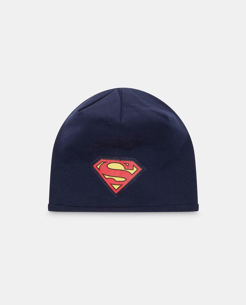 Berretto cotone stretch patch Superman