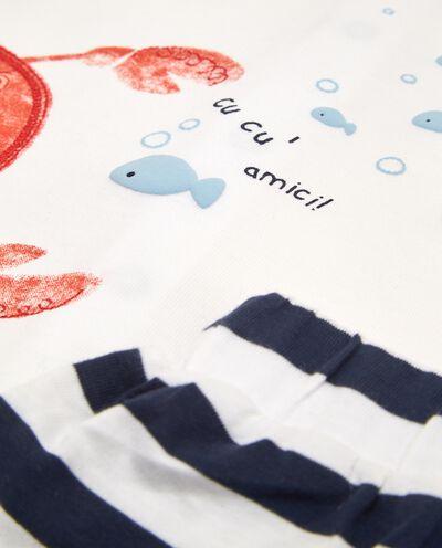 Set t-shirt e shorts in puro cotone