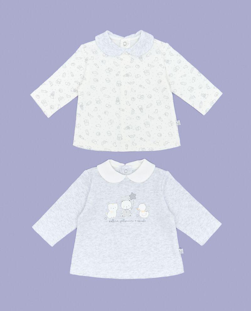 Bipack t-shirt fantasia e tinta unita neonato