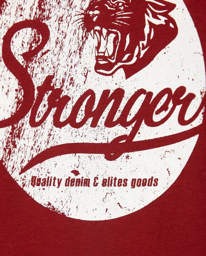 T-shirt con lettering in puro cotone ragazzo