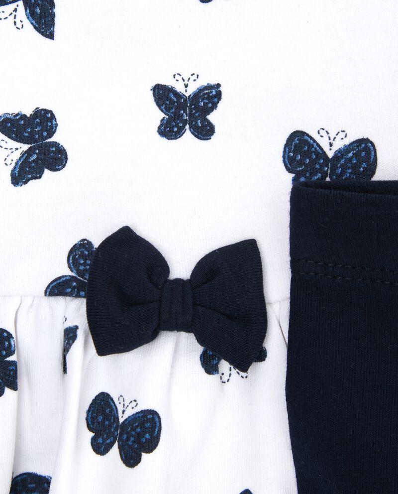 Set t-shirt farfalle e leggings neonata