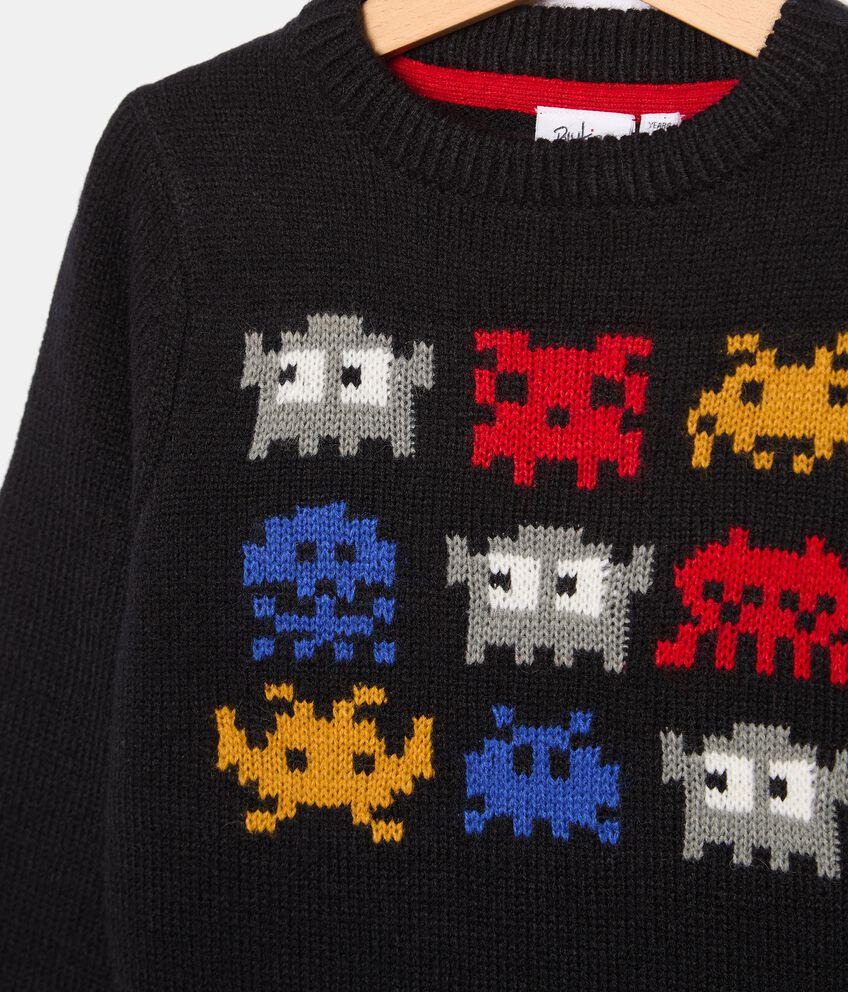 Girocollo tricot in misto lana bambino double 2